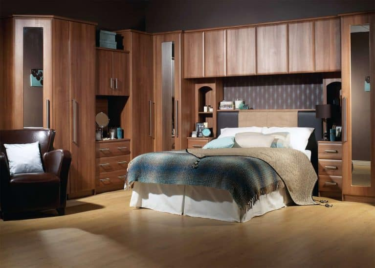 Modern Fitted Bedrooms Walnut Kent Starplan