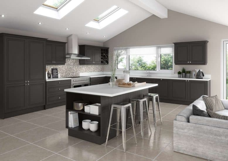 Fitted Kitchens Matte Graphite Lisbon Starplan Ni