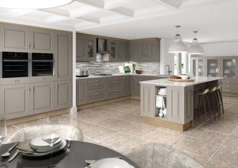 Fitted Kitchens Stone Grey Winchester Starplan NI - Grey fitted kitchens