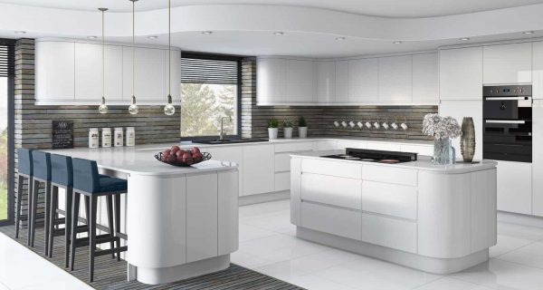 White Gloss Fitted Kitchens Belfast