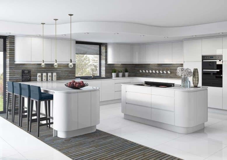 Fitted Kitchens White Gloss Lucente Starplan Ni