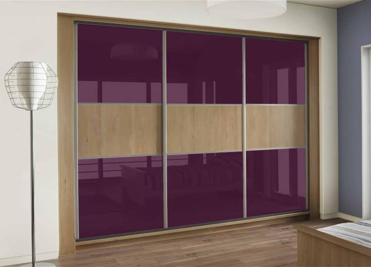 Sliding Wardrobes Bedroom Furniture Aubergine Glass Starplan