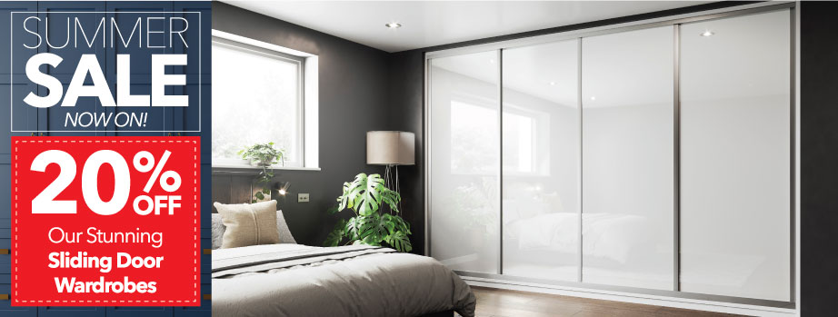 Starplan fitted bedrooms offer - free divan bed with many sliding wardrobes