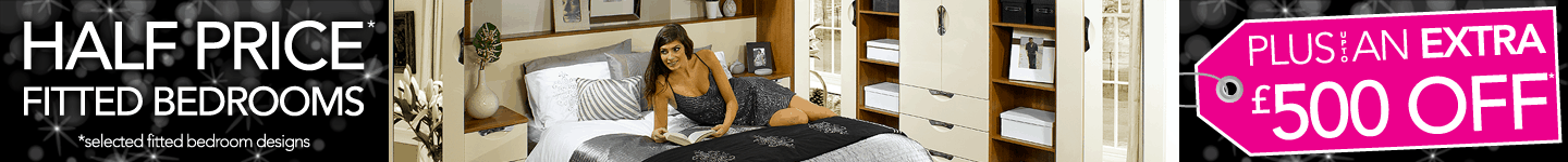 Half Price Plus Upto An Extra £500 Off Selected Fitted Bedroom Designs
