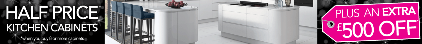 Half Price Plus An Extra £500 Off Kitchen Cabinets