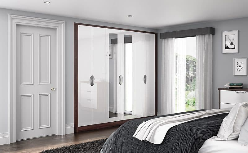 fitted wardrobes small bedroom fitted bedrooms white gloss tobacco starplan 15266