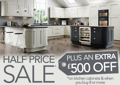 50% off kitchen cabinets plus an extra 10% off