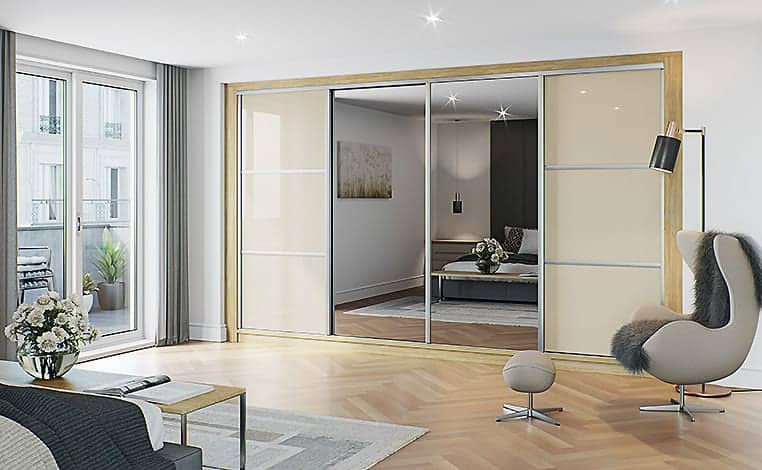 4 Door Sliding Door Wardrobe
