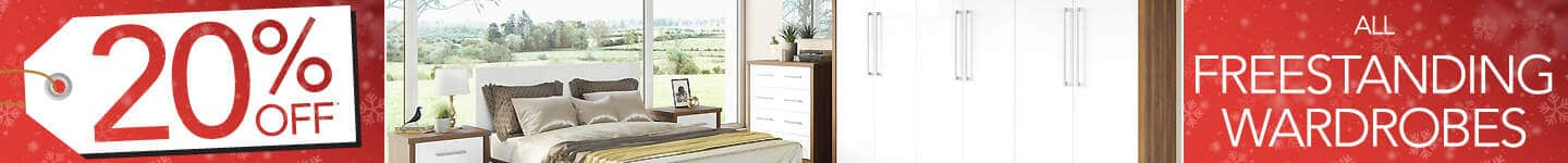 20% off our freestanding wardrobe ranges