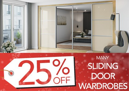 25% Off many sliding door wardrobes