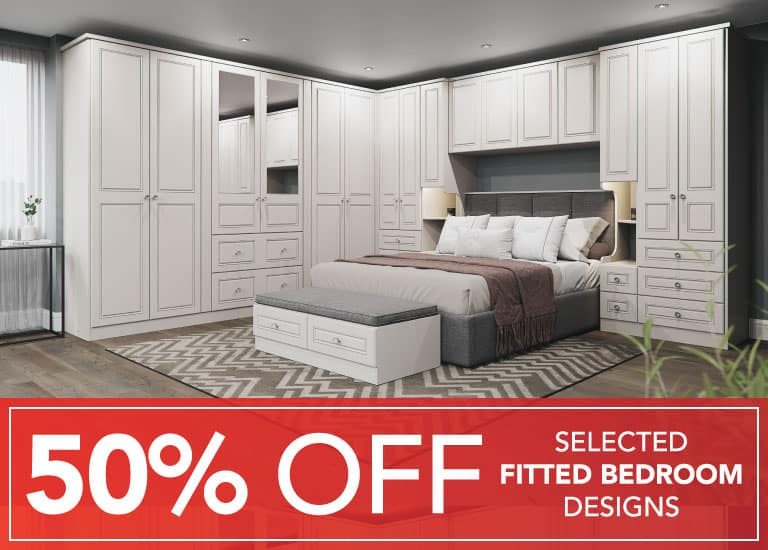 50% OFF Fitted Bedrooms
