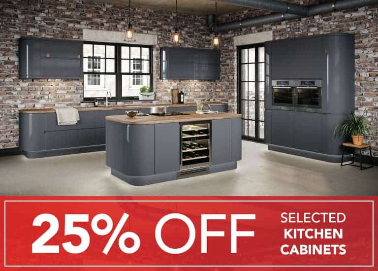 25% Off many kitchen cabinets