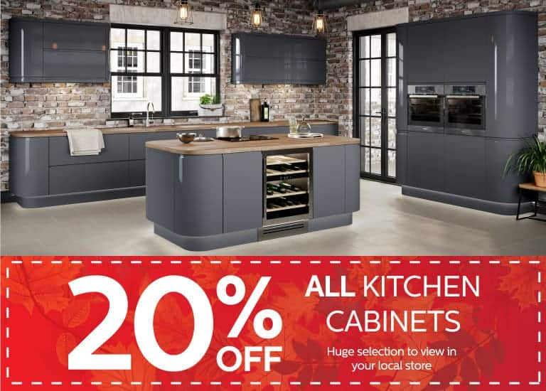 20% Off All Kitchen Cabinets