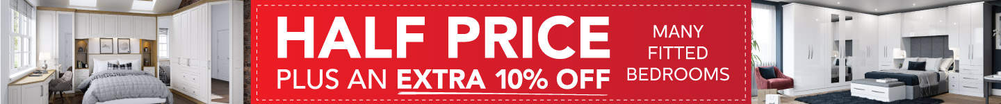 Half Price Plus An Extra 10% Off Fitted Bedrooms