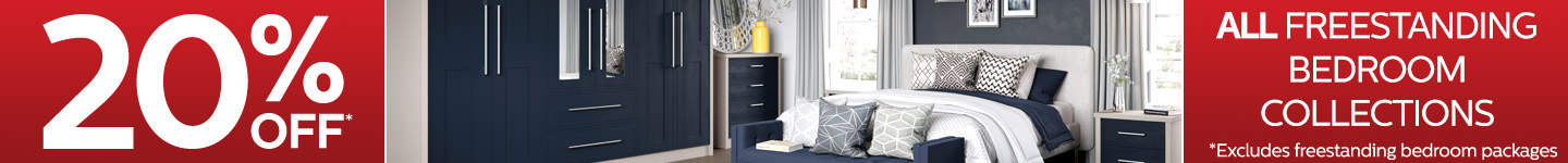 20% Off Our Freestanding Bedroom Furniture