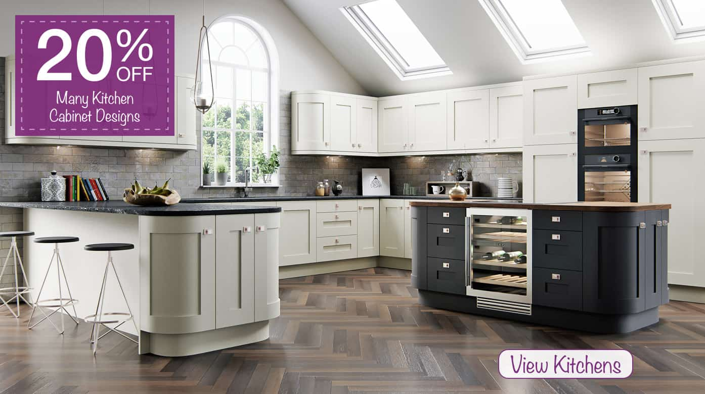 20% off kitchen doors & cabinets