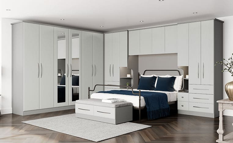Light Grey Grain With A Dust Grey Trim Fitted Bedroom