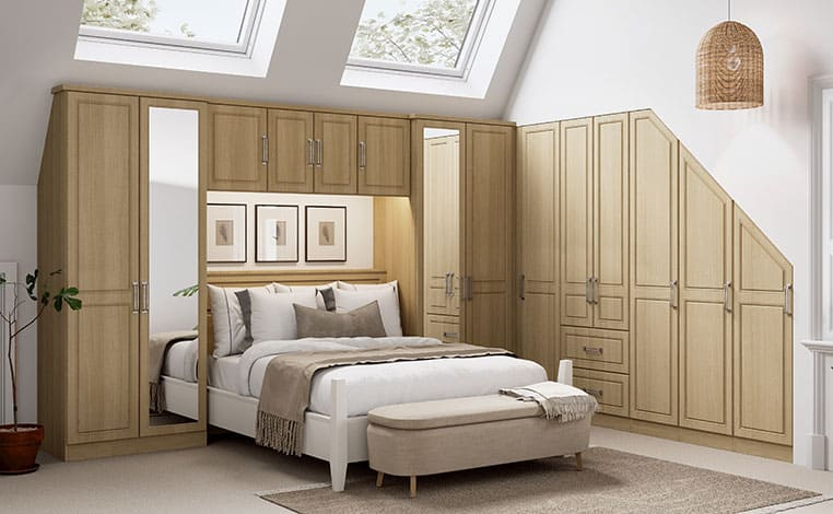 NEW Springfield Oak Double Sloped Fitted Bedroom
