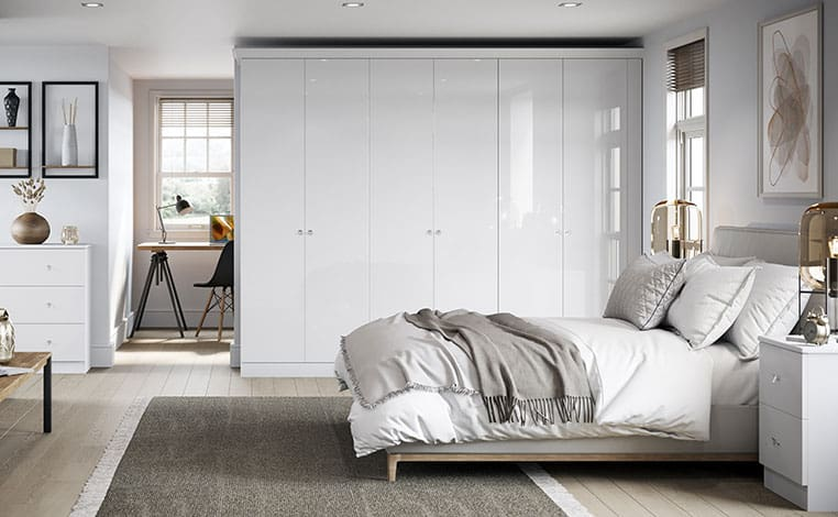 White Gloss With Fitted Bedroom