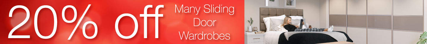 20% off sliding door wardrobes