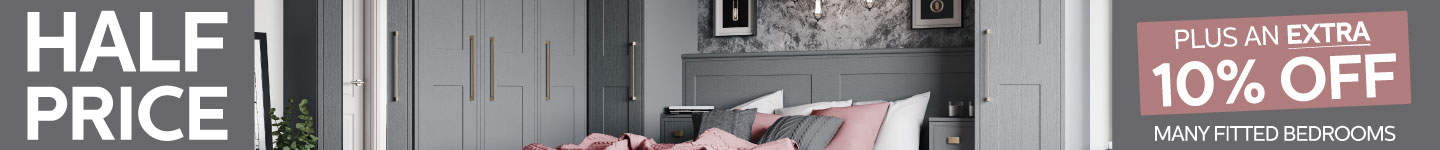 Half Price Plus An Extra 10% Off Fully Fitted Bedrooms